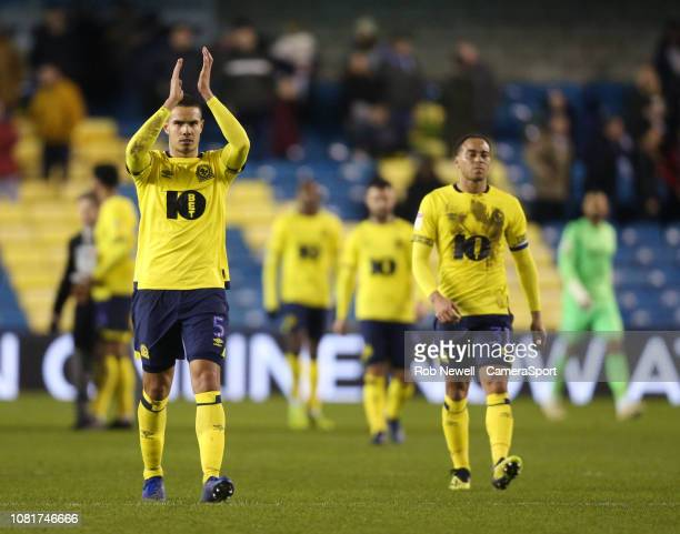 Blackburn Rovers' Jack Rodwell applauds the fans at the final whistle of the the Sky Bet Championship match between Millwall and Blackburn Rovers at...