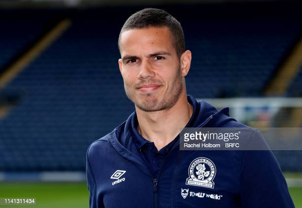 Blackburn Rovers' Jack Rodwell before the Sky Bet Championship match between Blackburn Rover and Swansea City at Ewood Park on May 5, 2019 in...