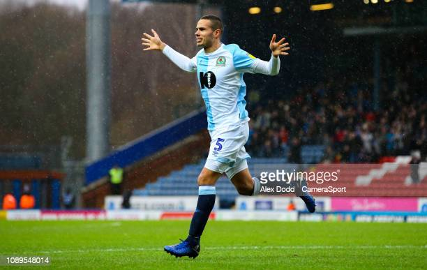 Blackburn Rovers' Jack Rodwell celebrates scoring his side's second goal during the Sky Bet Championship match between Blackburn Rovers and Hull City...