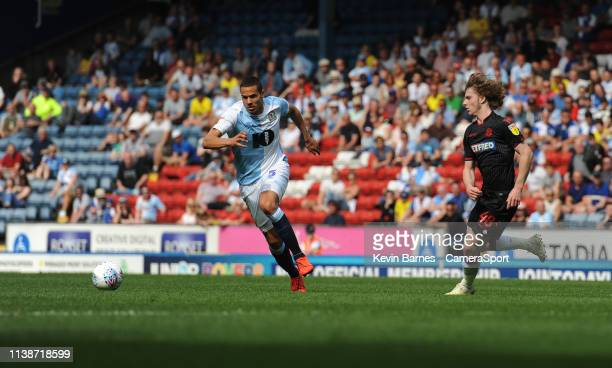 Blackburn Rovers' Jack Rodwell under pressure from Bolton Wanderers' Luca Connell during the Sky Bet Championship match between Blackburn Rovers and...