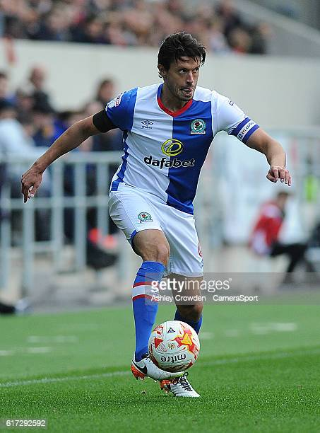 Blackburn Rovers' Jason Lowe in action during todays match during the Sky Bet Championship match between Bristol City and Blackburn Rovers at Ashton...