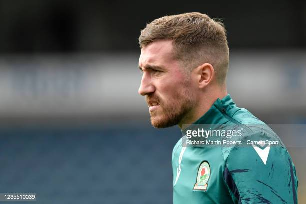 Blackburn Rovers' Joe Rothwell warms up during the Sky Bet Championship match between Blackburn Rovers and Cardiff City at Ewood Park on September...
