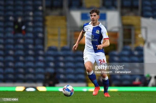 Blackburn Rovers' Joseph RankinCostello during the Sky Bet Championship match between Blackburn Rovers and Reading at Ewood Park on October 27 2020...