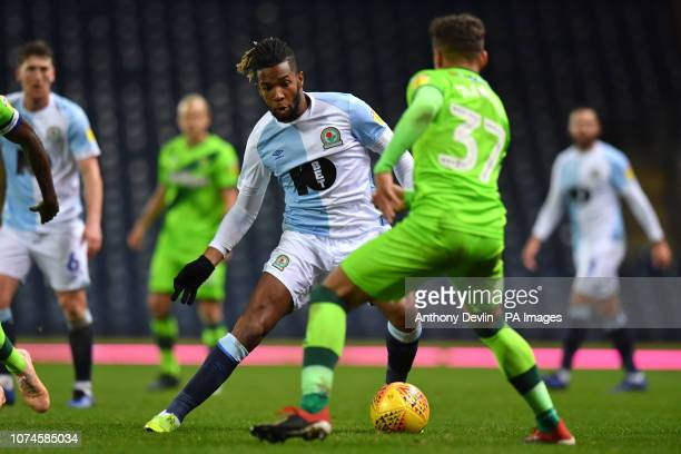 Blackburn Rovers' Kasey Palmer in action against Norwich City's Max Aarons during the Sky Bet Championship match at Ewood Park Blackburn