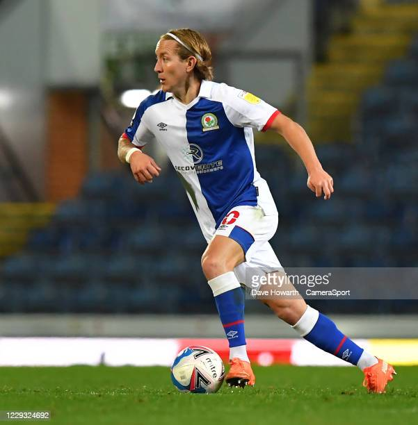 Blackburn Rovers' Lewis Holtby during the Sky Bet Championship match between Blackburn Rovers and Reading at Ewood Park on October 27 2020 in...