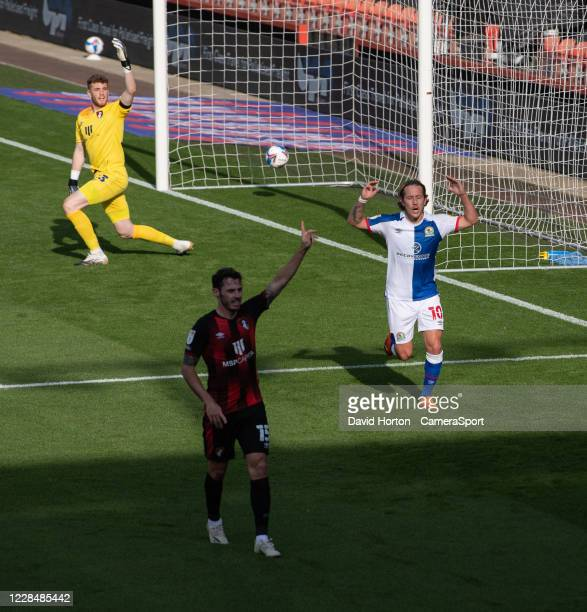 Blackburn Rovers' Lewis Holtby shows his frustration as his goal is offside during the Sky Bet Championship match between AFC Bournemouth and...