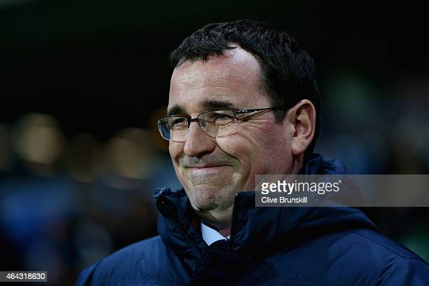 Blackburn Rovers manager Gary Bowyer during the Sky Bet Championship match between Blackburn Rovers and Norwich City at Ewood Park on February 24...