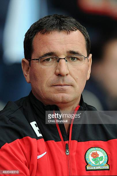Blackburn Rovers manager Gary Bowyer looks on during the Sky Bet Championship match between Blackburn Rovers and Cardiff City at Ewood Park on August...