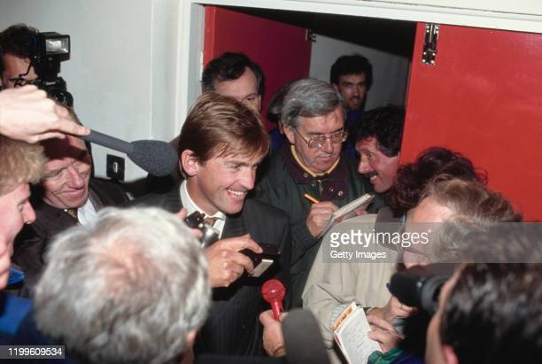 Blackburn Rovers manager Kenny Dalglish faces the assembled media in the corridor after a 2-1 defeat against Swindon Town in League Division Two at...
