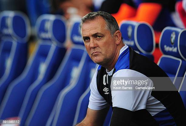 Blackburn Rovers manager Owen Coyle during the Sky Bet Championship match between Cardiff and Blackburn at Cardiff City Stadium on August 16 2016 in...