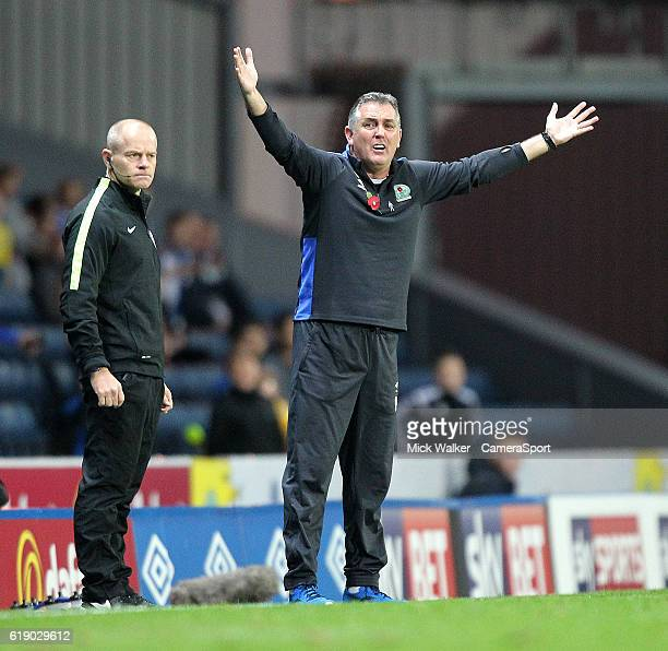 Blackburn Rovers Manager Owen Coyle during the Sky Bet Championship match between Blackburn Rovers and Wolverhampton Wanderers at Ewood Park on...