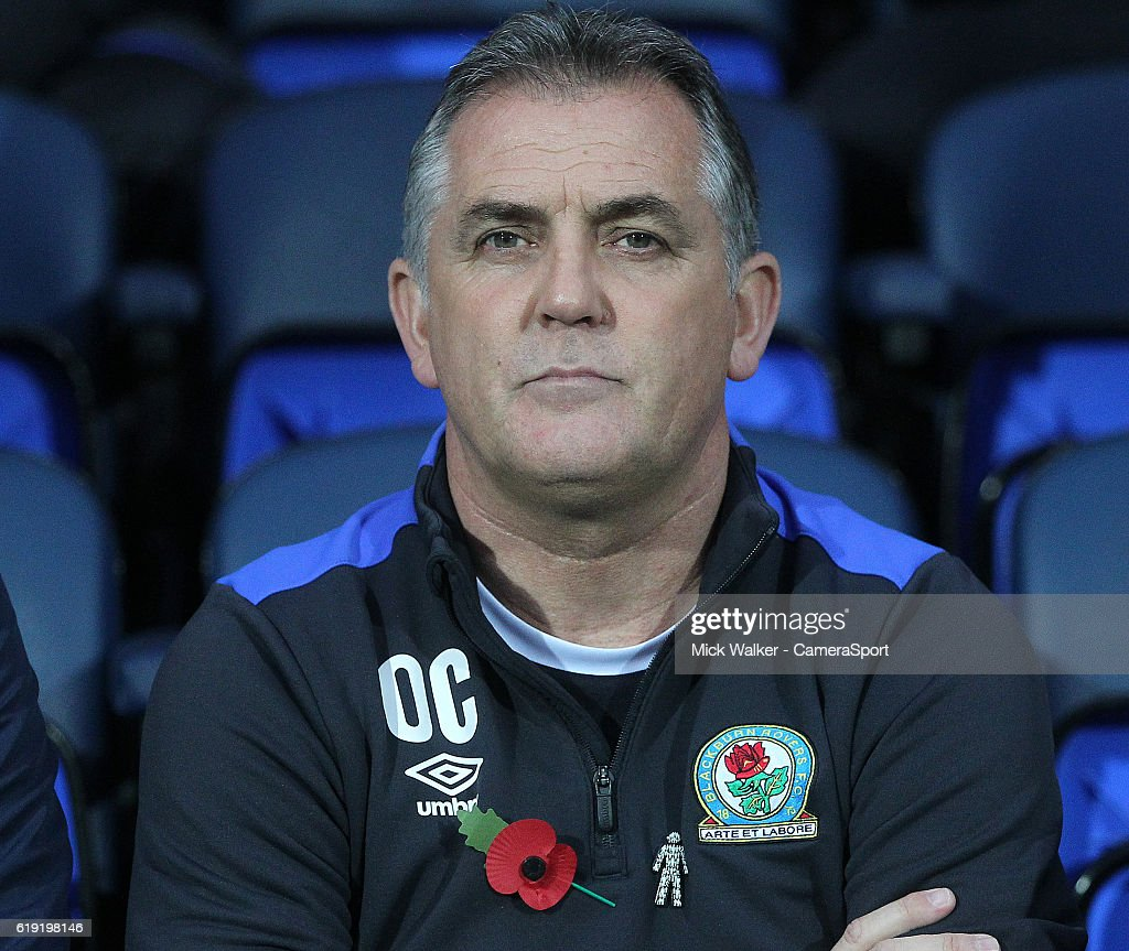 Blackburn Rovers Manager Owen Coyle during the Sky Bet Championship match between Blackburn Rovers and Wolverhampton Wanderers at Ewood Park on October 29, 2016 in Blackburn, England.