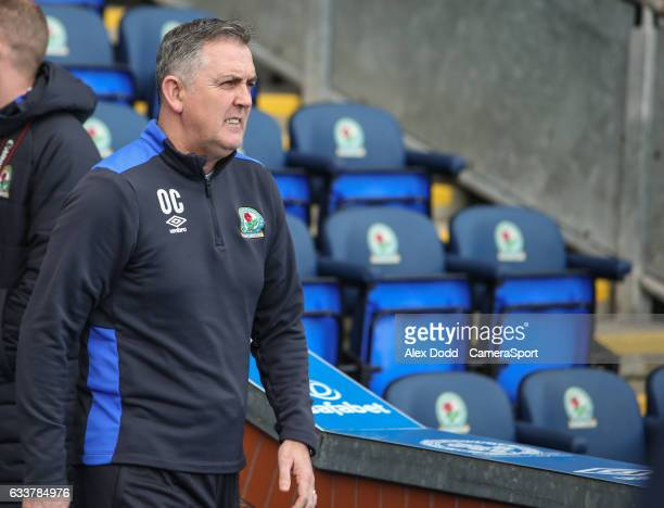 Blackburn Rovers manager Owen Coyle walks out of the tunnel before the match during the Sky Bet Championship match between Blackburn Rovers and...