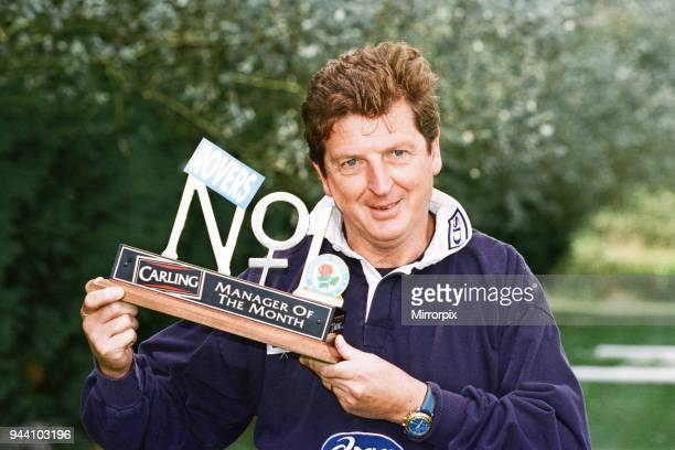 Blackburn Rovers manager Roy Hodgson with the Carling Manager of the Month Award 12th September 1997