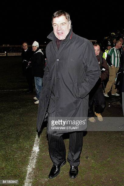 Blackburn Rovers' manager Sam Allardyce is pictured prior to a FA Cup third round football match between Blyth Spartans and Blackburn Rovers at Croft...