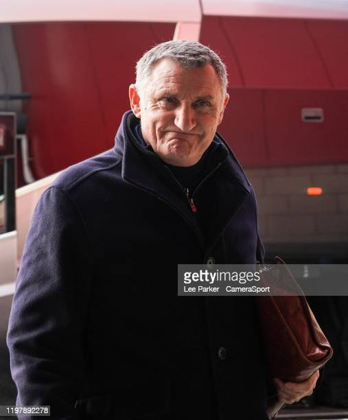 Blackburn Rovers manager Tony Mowbray arrives at the Riverside Stadium home of Middlesbrough FC during the Sky Bet Championship match between...