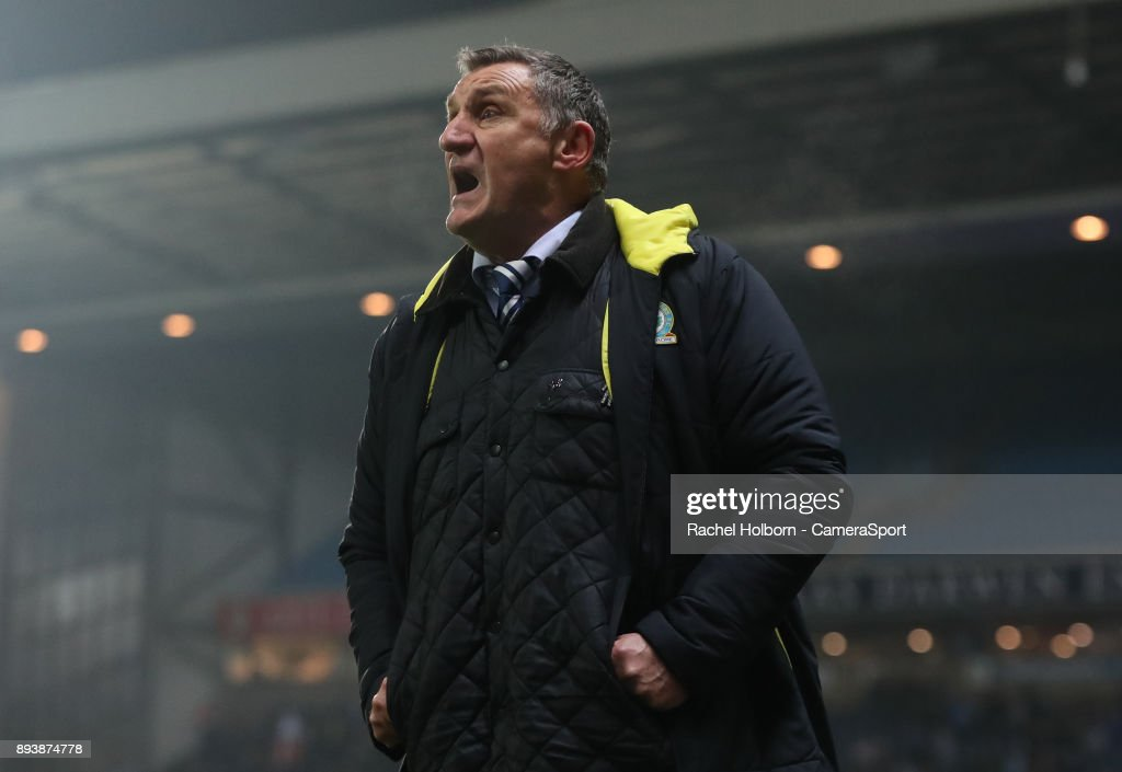 Blackburn Rovers Manager Tony Mowbray during the Sky Bet League One match between Blackburn Rovers and Charlton Athletic at Ewood Park on December 16, 2017 in Blackburn, England.