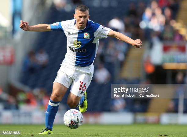 Blackburn Rovers' Paul Caddis during the Sky Bet League One match between Blackburn Rovers and Milton Keynes Dons at Ewood Park on August 26 2017 in...