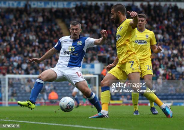 Blackburn Rovers' Paul Caddis during the Sky Bet League One match between Blackburn Rovers and AFC Wimbledon at Ewood Park on September 16 2017 in...