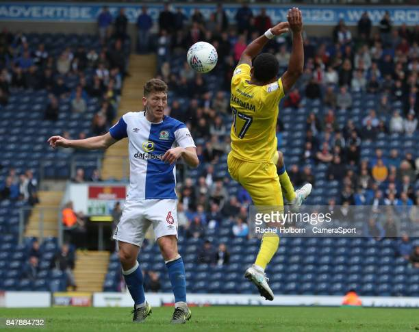 Blackburn Rovers' Richard Smallwood Blackburn Rovers' Dominic Samuel during the Sky Bet League One match between Blackburn Rovers and AFC Wimbledon...