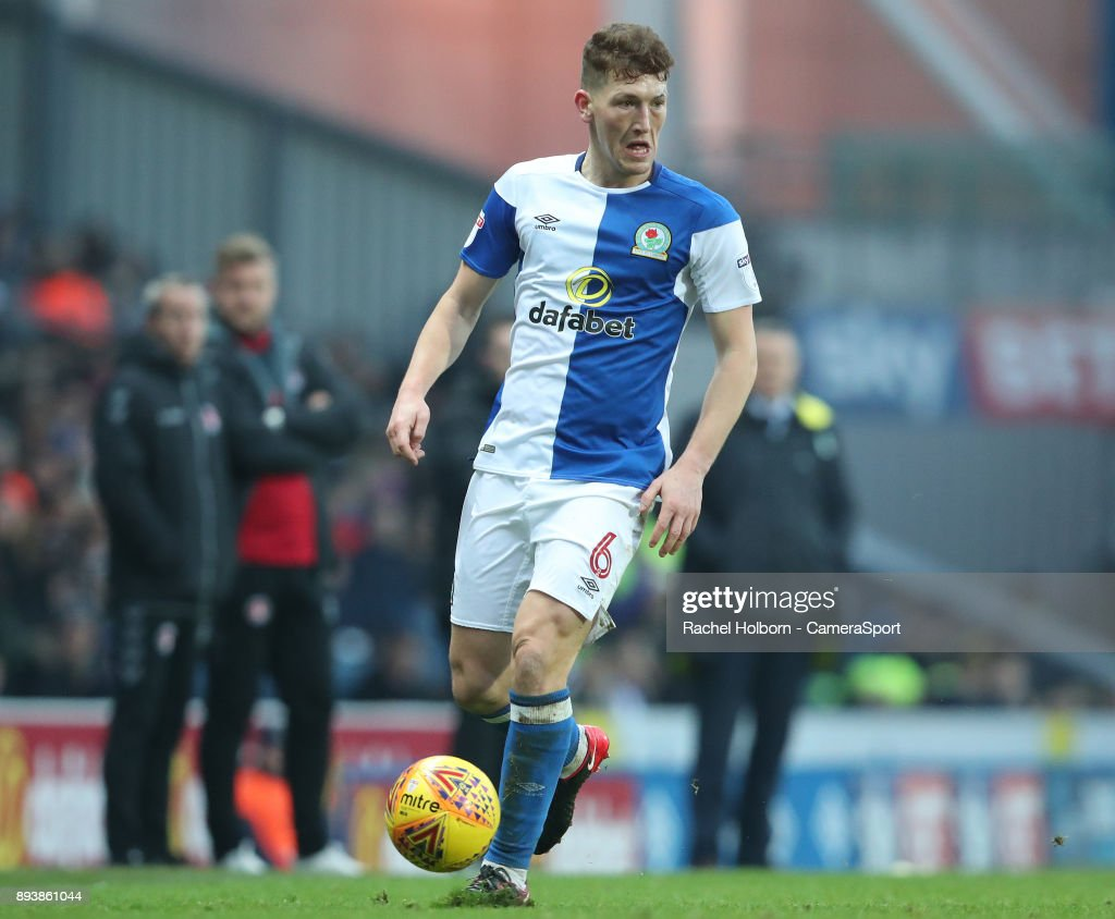 Blackburn Rovers' Richard Smallwood during the Sky Bet League One match between Blackburn Rovers and Charlton Athletic at Ewood Park on December 16, 2017 in Blackburn, England.