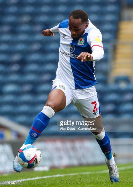 Blackburn Rovers' Ryan Nyambe during the Sky Bet Championship match between Blackburn Rovers and Nottingham Forest at Ewood Park on October 17 2020...