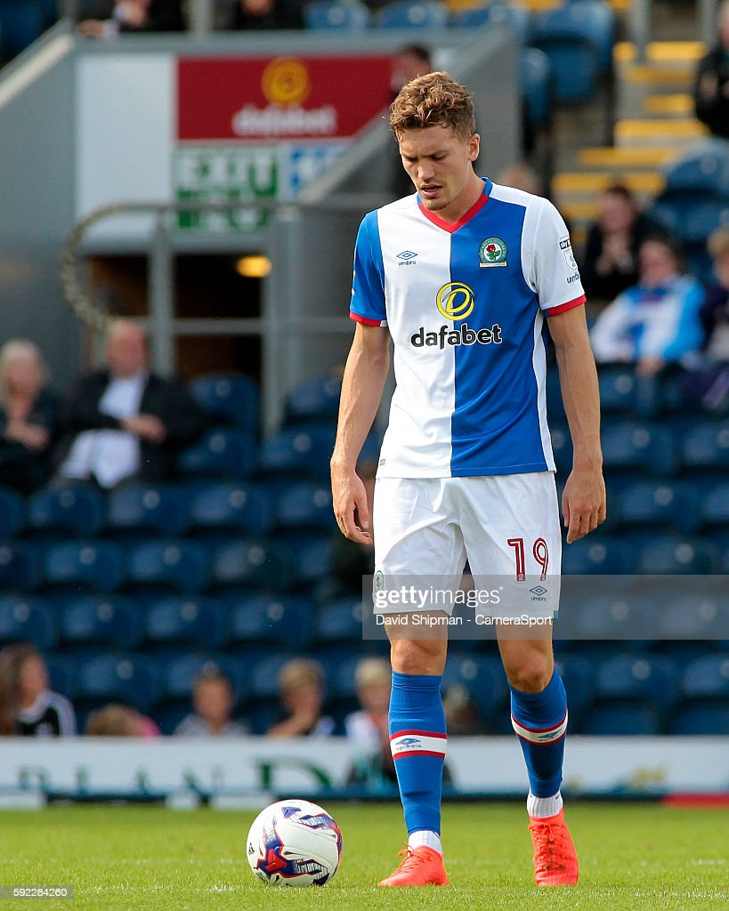 Blackburn Rovers' Sam Gallagher looks dejected after Burton Albion equalise during the Sky Bet Championship match between Blackburn Rovers and Burton Albion at Ewood park on August 20, 2016 in Blackburn, England.