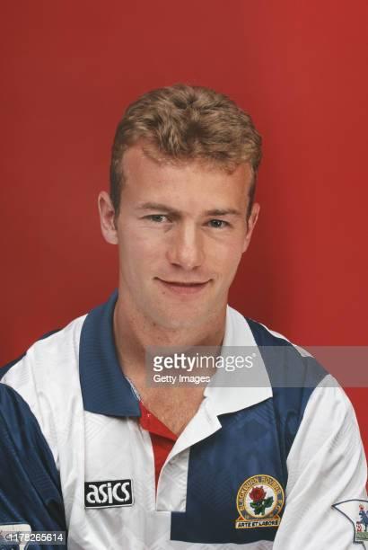 Blackburn Rovers striker Alan Shearer pictured circa 1992 in London, United Kingdom.