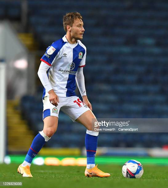 Blackburn Rovers' Tom Trybull during the Sky Bet Championship match between Blackburn Rovers and Reading at Ewood Park on October 27 2020 in...