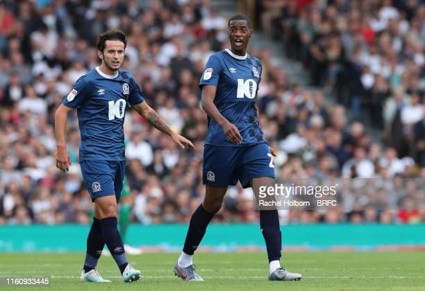Blackburn Rovers' Tosin Adarabioyo during the Sky Bet Championship match between Fulham and Blackburn Rovers at Craven Cottage on August 10, 2019 in...