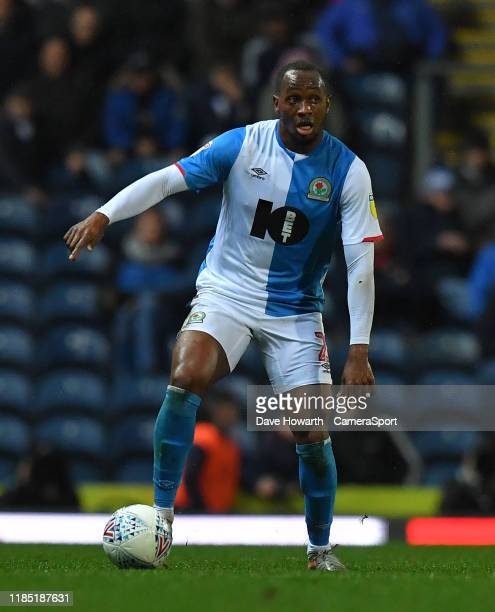 Blackburn Rovers' Tosin Adarabioyo during the Sky Bet Championship match between Blackburn Rovers and Brentford at Ewood Park on November 27, 2019 in...