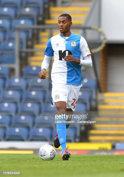 Blackburn Rovers' Tosin Adarabioyo during the Sky Bet Championship match between Blackburn Rovers and West Bromwich Albion at Ewood Park on July 11,...
