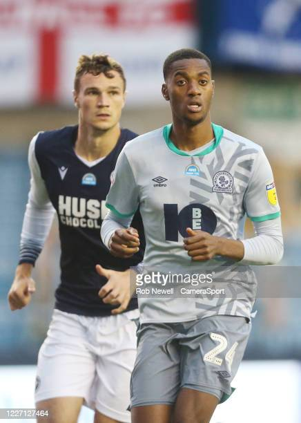 Blackburn Rovers' Tosin Adarabioyo during the Sky Bet Championship match between Millwall and Blackburn Rovers at The Den on July 14, 2020 in London,...