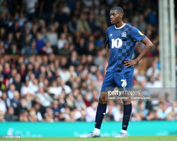 Blackburn Rovers' Tosin Adarabioyo in action during the Sky Bet Championship match between Fulham and Blackburn Rovers at Craven Cottage on August...