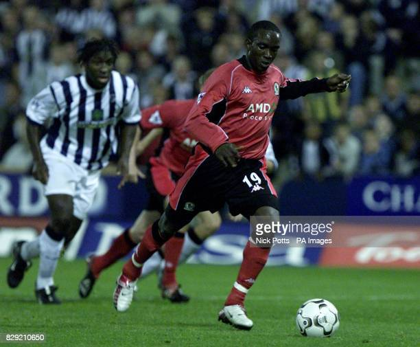 Blackburn Rovers's Dwight Yorke scores from the penalty spot against West Bromwich Albion during the FA Barclaycard Premiership game at the Hawthorns...