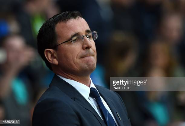 Blackburn's English manager Gary Bowyer looks on ahead of the English FA Cup quarterfinal replay football match between Blackburn Rovers and...
