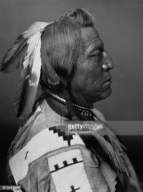 Blackfoot chief who is said to be one the models for James Earl Fraser's composite profile on the Indian head nickel