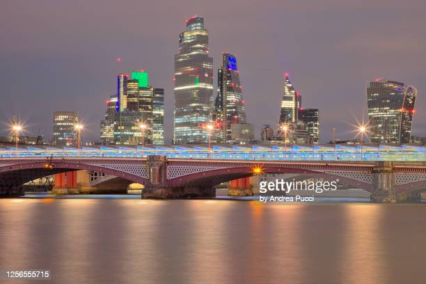blackfriars bridge and city of london, london, united kingdom - 2018 stock pictures, royalty-free photos & images
