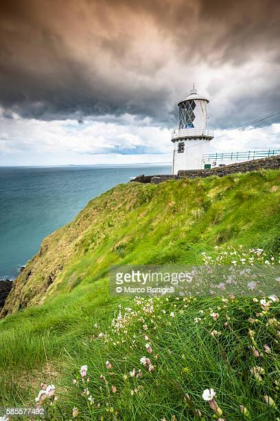 Blackhead path lighthouse, Whitehead, County Antrim, Ulster region, northern Ireland, United Kingdom.