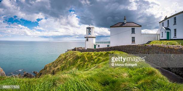 Blackhead path lighthouse, Whitehead, County Antrim, Ulster region, northern Ireland, United Kingdom. Panoramic view.