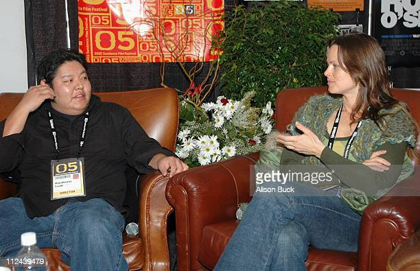 Blackhorse Lowe and Heather Rae during 2005 Sundance Film Festival Writing the Land at Filmmaker's Lodge in Park City Utah United States