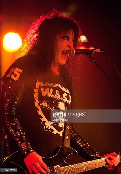 Blackie Lawless of WASP performs in front of a sold out crowd at the Alrosa Villa on March 5 2010 in Columbus Ohio