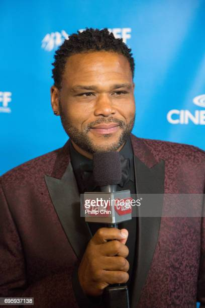 'Blackish' Actor and Executive Producer Anthony Anderson has fun on the Red Carpet at the Rockie Awards Gala Cermemony during the 2017 Banff Media...