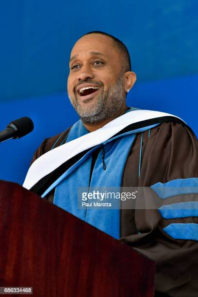 'Blackish' creator and producer Kenya Barris receives an Honorary Doctor of Humane Letters Degree and delivers the Commencement Address at the 2017...