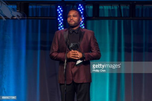 'Blackish' Star and Executive Producer Anthony Anderson receives the inaugural Hollywood Reporter Impact Award at the Rockie Awards Gala Cermemony...