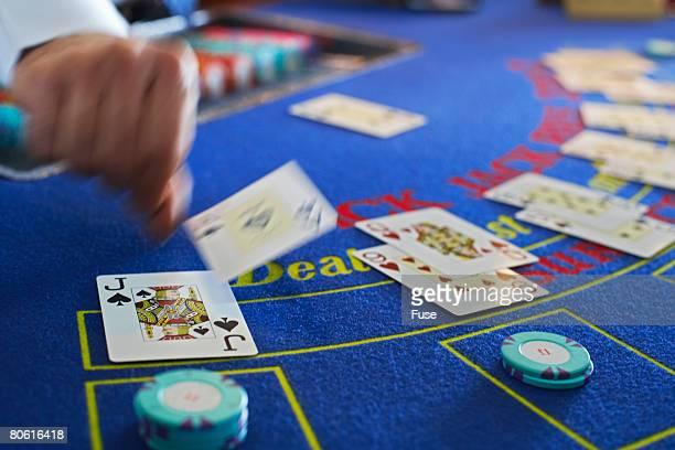 Blackjack Dealer at Work