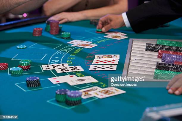 blackjack tabel - gambling table stock pictures, royalty-free photos & images