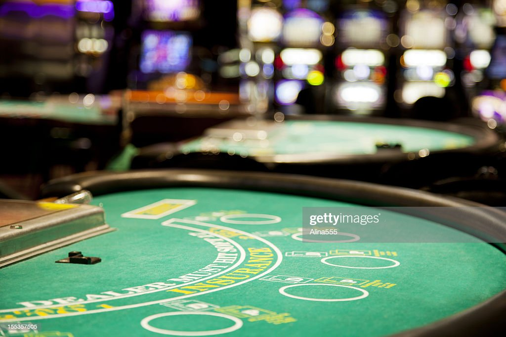 Blackjack table : Stock Photo