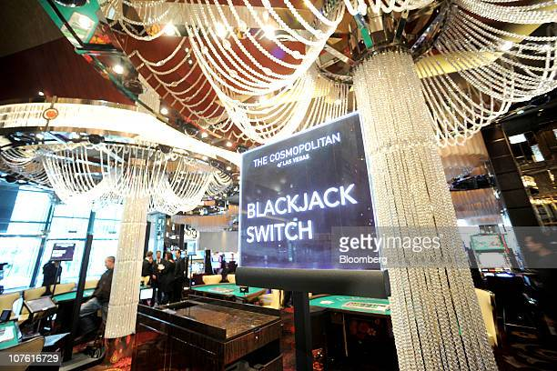 Blackjack tables stand in The Cosmopolitan of Las Vegas casino on opening day in Las Vegas Nevada US on Wednesday Dec 15 2010 The $39 billion hotel...