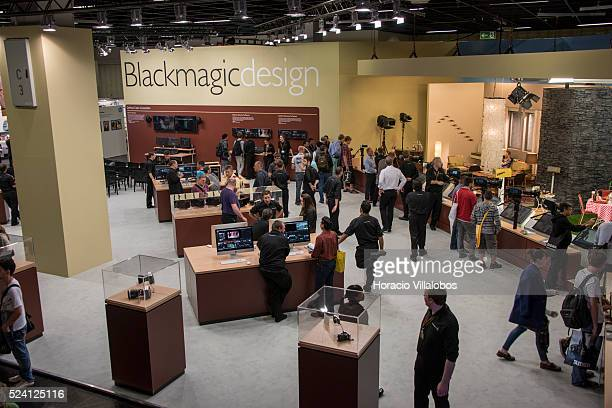 Blackmagic Design stand in Photokina 2014 in Cologne Germany 18 September 2014 Photokina the world's leading imaging fair brings together the...